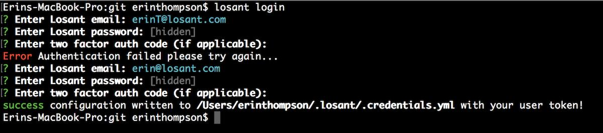 Losant CLI | Losant Documentation