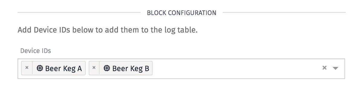 Device Connection Log Config