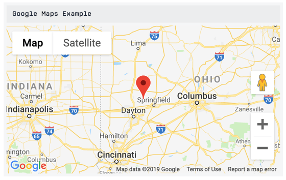 Custom HTML Example - Google Maps
