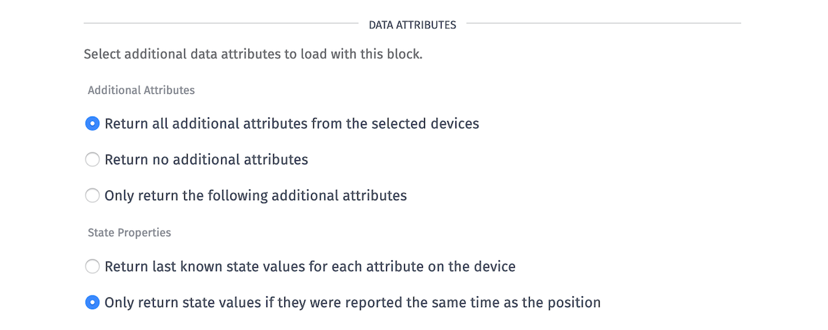 GPS History Additional Attributes (Return All)