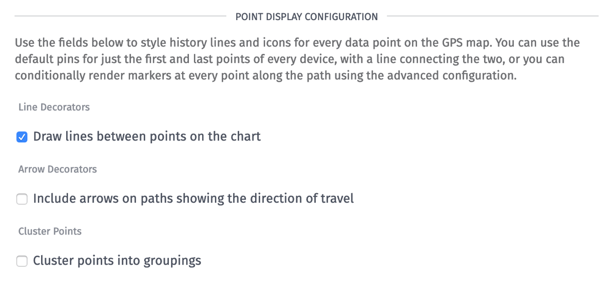 Point Display Configuration