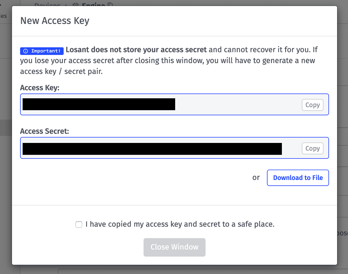 New Access Key