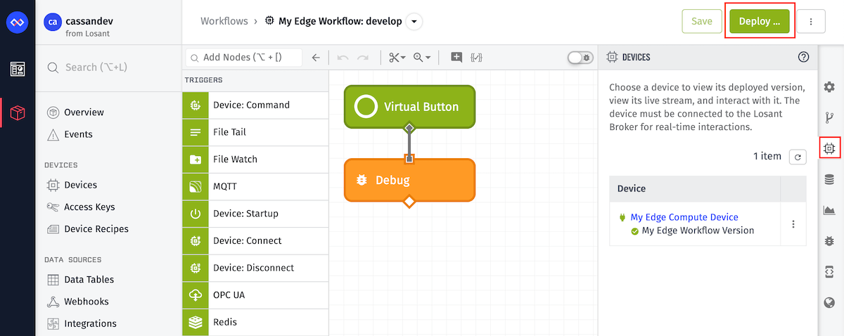 Workflow Edge Deployments