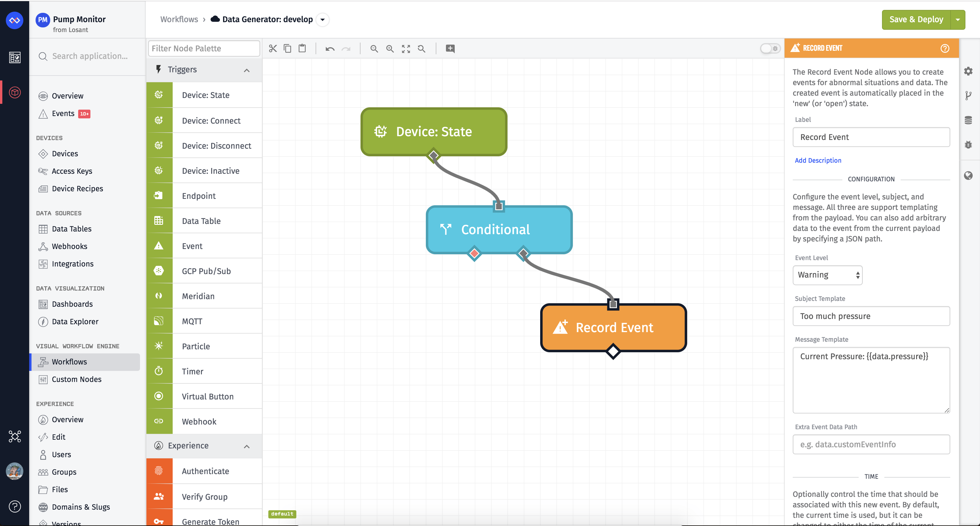 Create Event Workflow