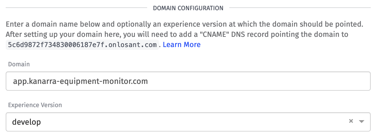 Experience Domain Change Version