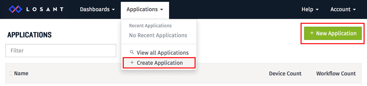 Create Application