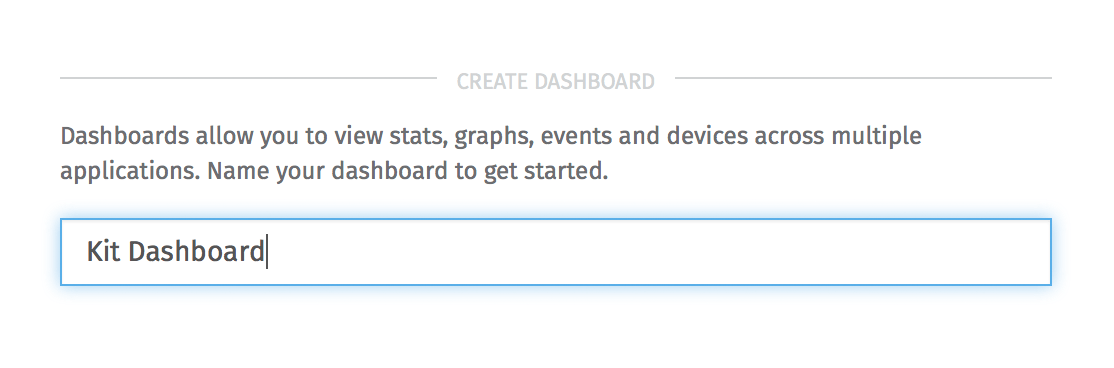 Create Dashboard Form