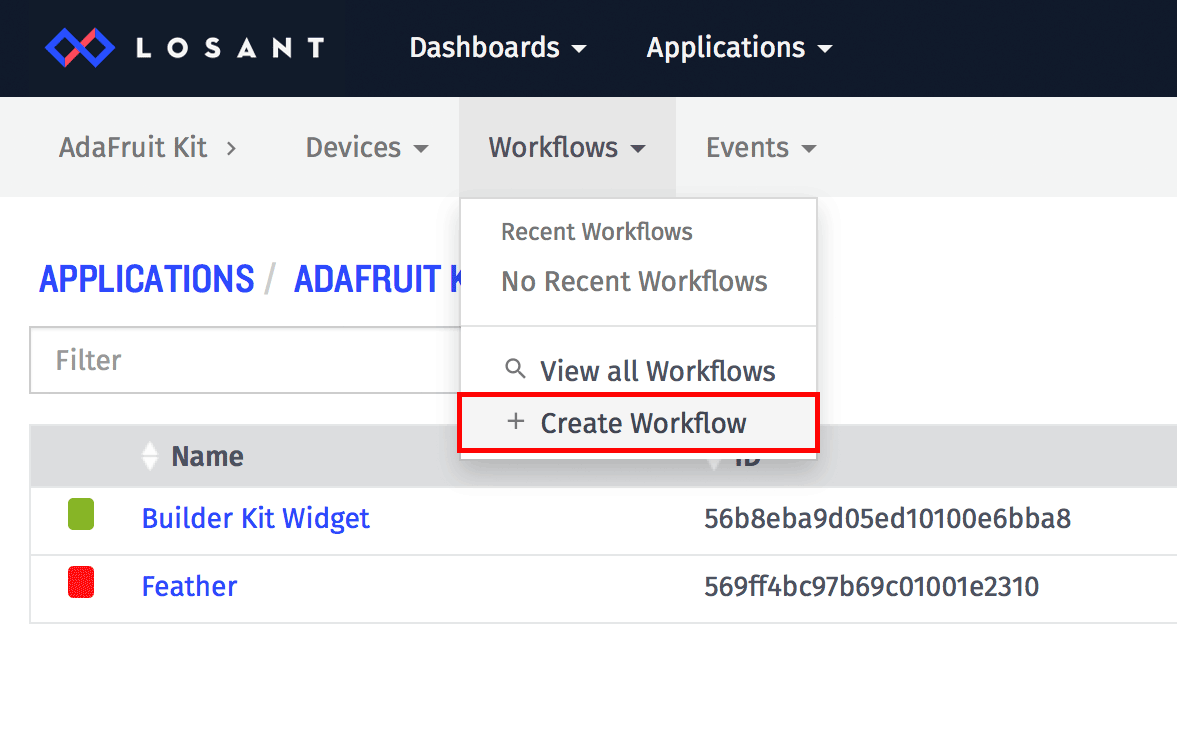 Create Workflow Virtual Button