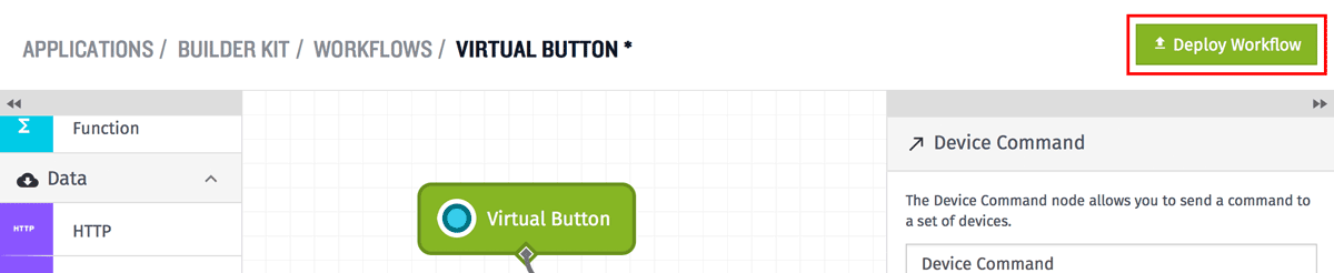 Deploy Virtual Button