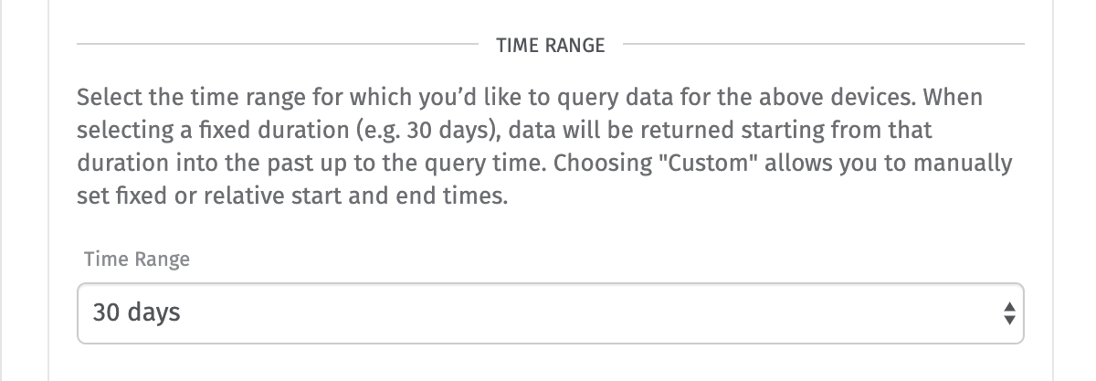Device Data Simple Time Range
