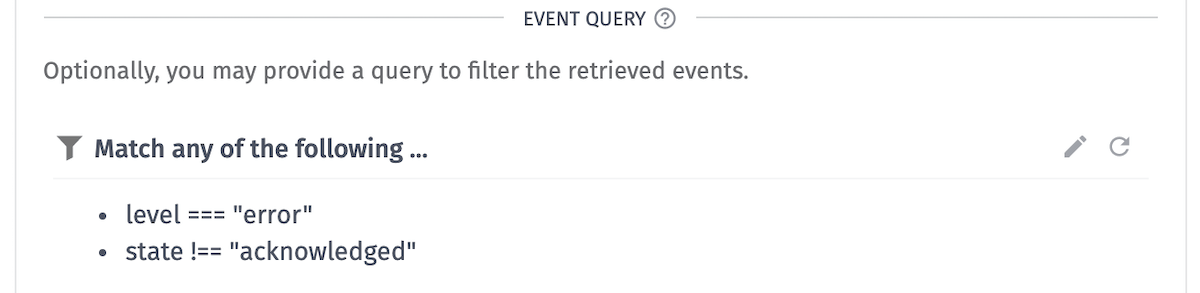 Event Data Query