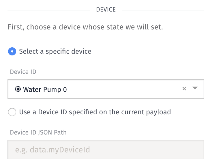 Device State Node Settings