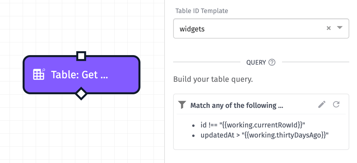 Table get rows data workflows losant documentation if you selected a data table directly instead of using a template there will be a section detailing all of the columns in the table and their data types to maxwellsz