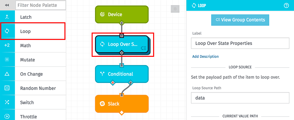 Loop logic workflows losant documentation loop node overview ccuart Images