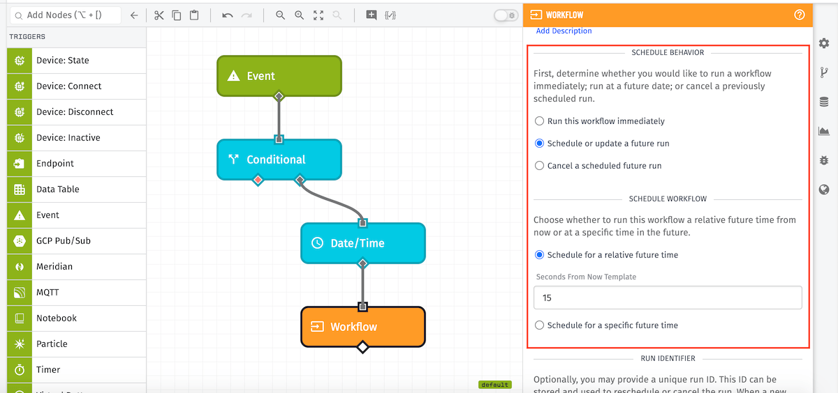 Workflow Trigger Node Example