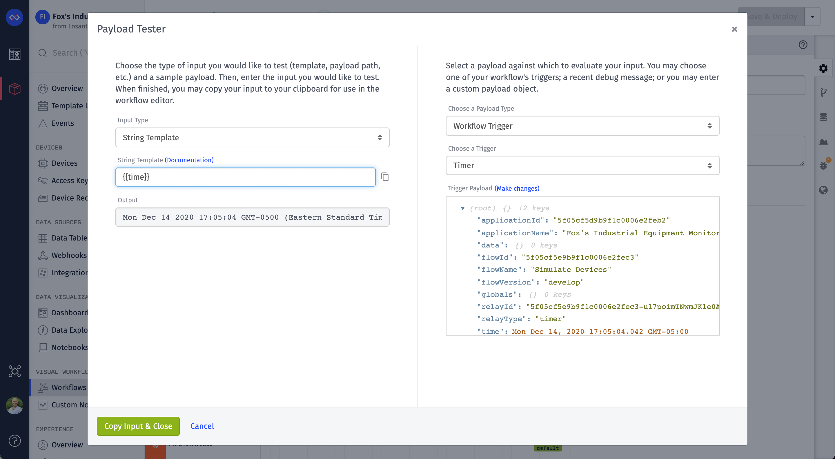 Platform Template Tester Preview