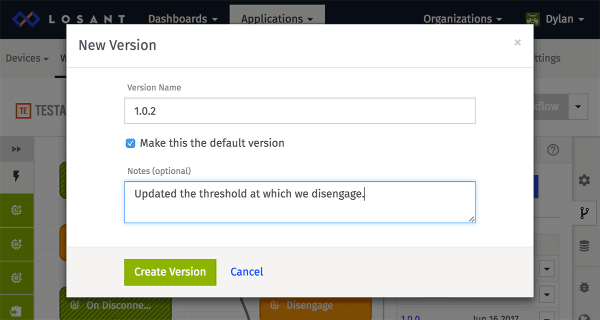 Create Version Modal